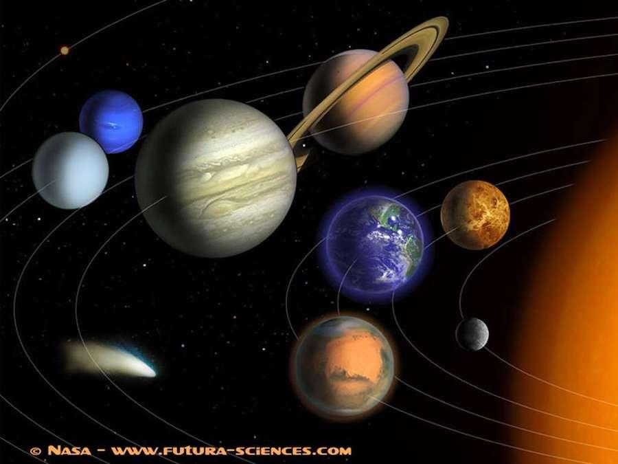 Transit photo de planète dans un ciel nuit-Atlaneastro