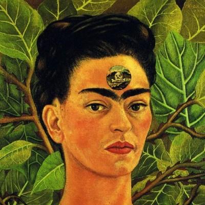 Frida-Kahlo-auto portrait peinture le 3 ème oeil-Atlaneastro