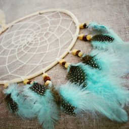 l'attrape rêveavec plumes turquoises Part.1-Atlaneastro