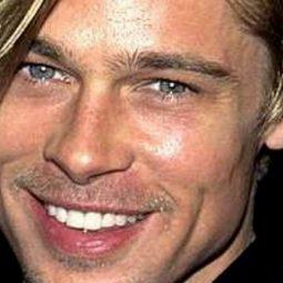 Sagittaire Brad Pitt jeune portrait souriant-Atlaneastro