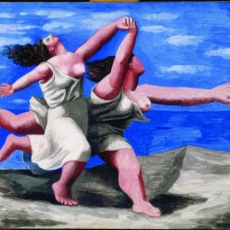 tableau Picasso 2 femmes courent sur la plage contes-Atlaneastro