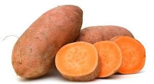 Yam couleur orange en tranches-Atlaneastro