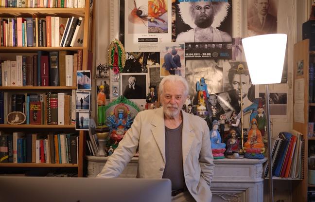 A. Jodorowsky dans son atelier soirées-Atlaneastro