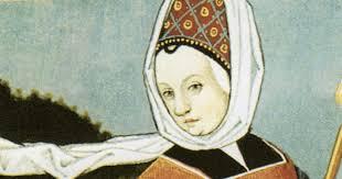 peinture Abbesse Hildegarde de Bingen-Atlaneastro