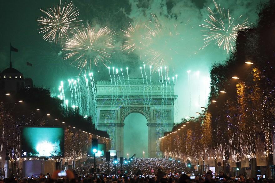 Merciii feu d'artifice à Paris-Atlaneastro
