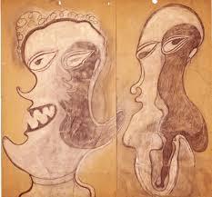 André Breton peinture Art brut dans les beige Part.Atlaneastro