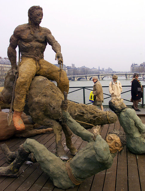 Ousmane Sow expo sculpture quai de la Seine Paris Part.1-Atlaneastro