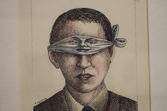 dessin Topor yeux sur le bandeau qui les cachent Part.2-Atlaneastro