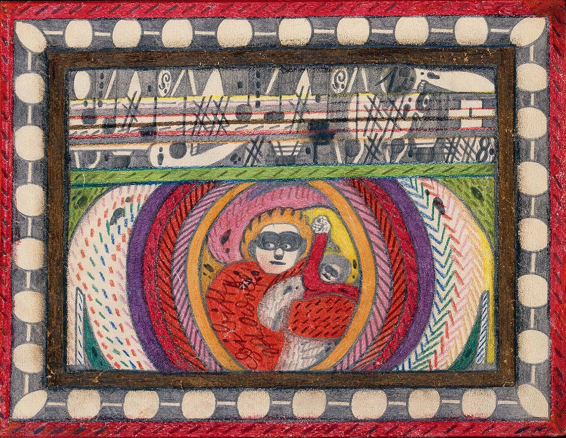 Adolf illustration ou peinture un être entourré dhalos lumineux Part.1-Atlaneastro