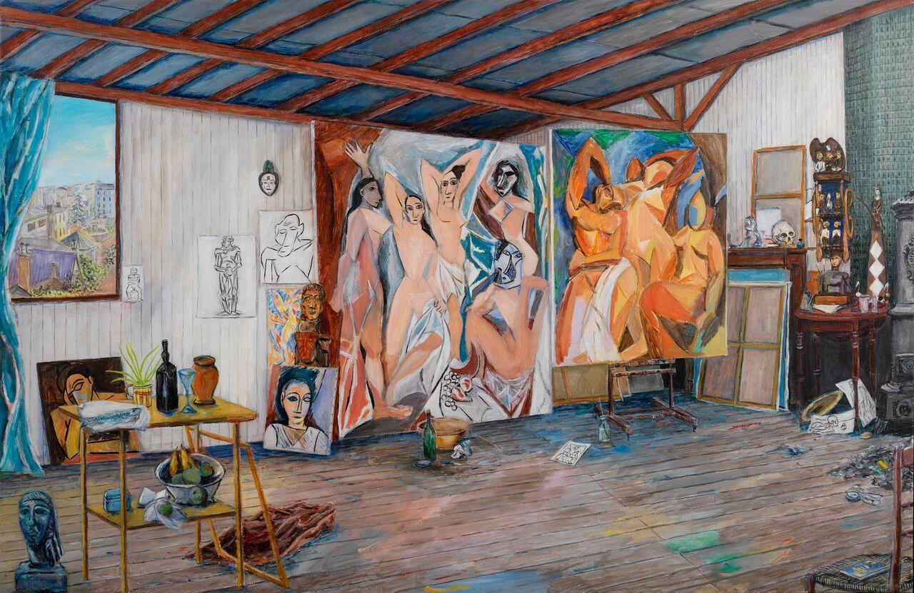 L'atelier de Picasso Les demoisielle d'Avignon et autres toile couleur Part.1-Atlaneastro