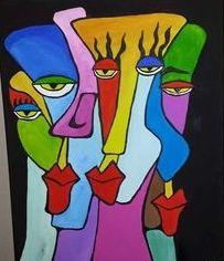 Pablo Picasso visages couleurs primaires Part.2-Atlaeastro