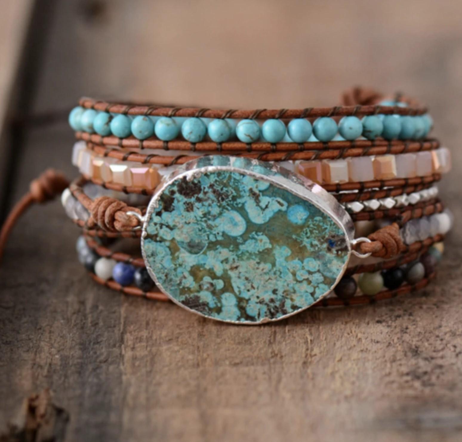 Chantal Gavriel bracelet avec turquoise Part.1-Atlaneastro